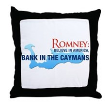 Romney Bank in Caymans Throw Pillow