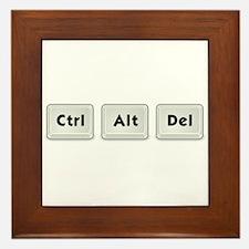 Ctrl Alt Del Key Framed Tile