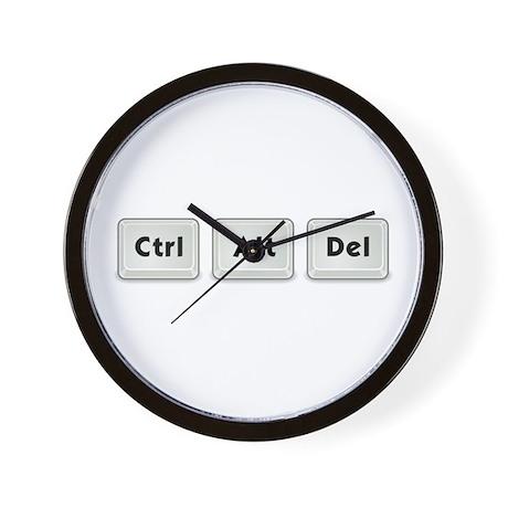 Ctrl Alt Del Key Wall Clock