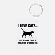 Eat A Whole Cat Keychains