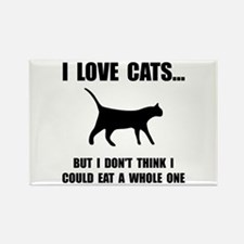 Eat A Whole Cat Rectangle Magnet (10 pack)