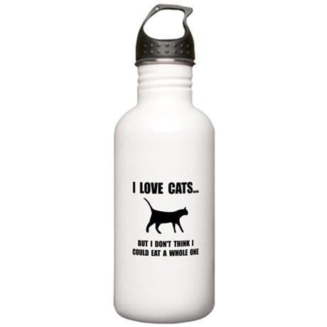 Eat A Whole Cat Stainless Water Bottle 1.0L