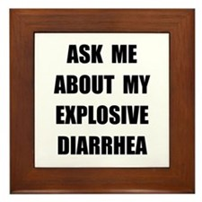 Explosive Diarrhea Framed Tile