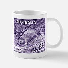 1956 Australia Platypus Stamp Purple Mug