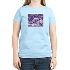 1956 Australia Platypus Stamp Purple T-Shirt