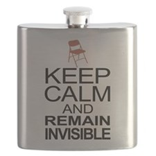 Obama Empty Chair - Remain Invisible Flask
