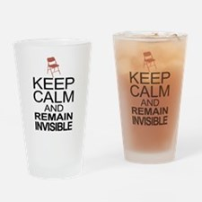 Obama Empty Chair - Remain Invisible Drinking Glas