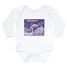 1956 Australia Platypus Stamp Purple Body Suit