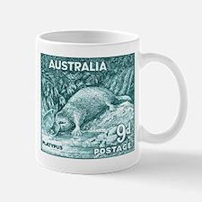 1956 Australia Platypus Stamp Teal Mug