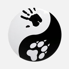 Wolf Therian Ying Yang Ornament (Round)