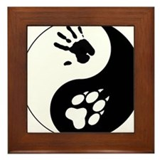 Wolf Therian Ying Yang Framed Tile
