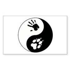 Wolf Therian Ying Yang Decal