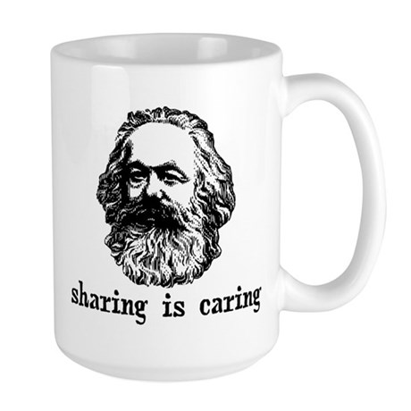 Marx: Sharing is Caring Large Mug