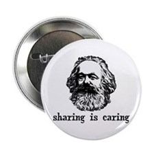 "Marx: Sharing is Caring 2.25"" Button"