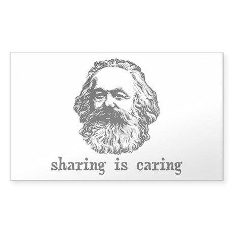 Marx: Sharing is Caring Sticker (Rectangle)