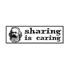 Marx: Sharing is Caring Car Magnet 10 x 3