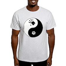 Cat Therian Ying Yang T-Shirt