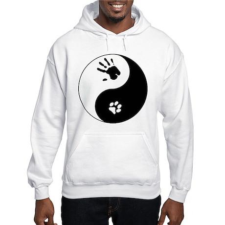 Cat Therian Ying Yang Hooded Sweatshirt