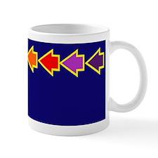 Dark Navy Mug with rainbow arrows