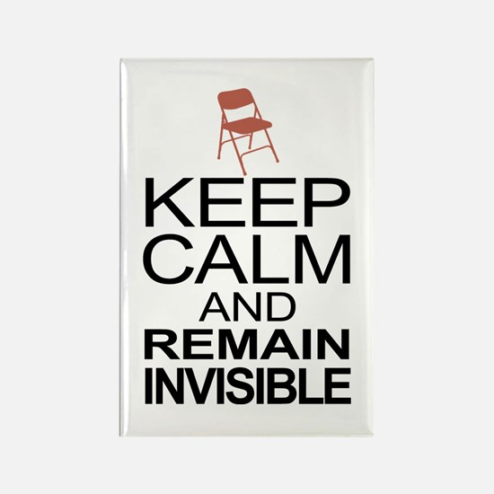 Obama Empty Chair - Remain Invisible Rectangle Mag