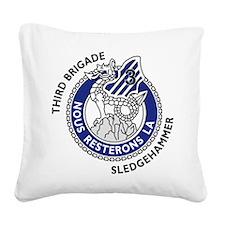 3rd Brigade - Nous Resterons Square Canvas Pillow