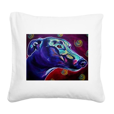 Greyhound #2 Square Canvas Pillow