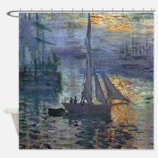 Claude Monet Sunrise At Sea Shower Curtain