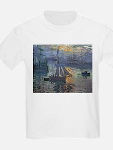 Claude Monet Sunrise At Sea T-Shirt