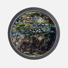 Claude Monet Water garden at Giverny Wall Clock