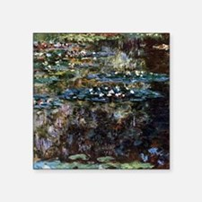 Claude Monet Water garden at Giverny Square Sticke