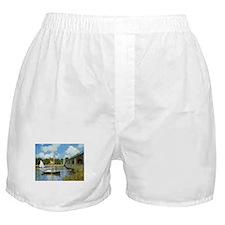 Monet Bridge at Argenteuil Boxer Shorts