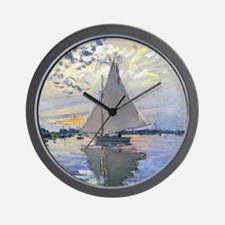 Claude Monet Sailboat Wall Clock