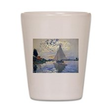 Claude Monet Sailboat Shot Glass