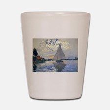 Claude Monet Sailboat Shot Glass