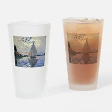 Claude Monet Sailboat Drinking Glass
