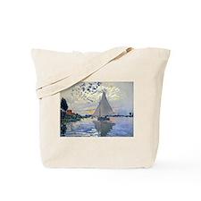 Claude Monet Sailboat Tote Bag