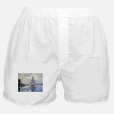 Claude Monet Sailboat Boxer Shorts