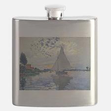 Claude Monet Sailboat Flask