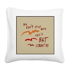 Bat Country Square Canvas Pillow