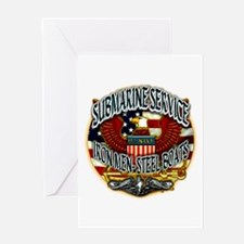USN Submarine Service Iron Men Steel Boats Greetin