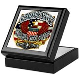 Us navy submarine Square Keepsake Boxes