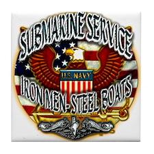 USN Submarine Service Iron Men Steel Boats Tile Co