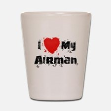 I <3 My Airman Shot Glass