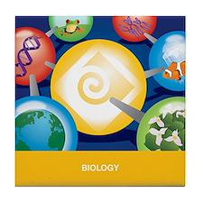 Cute Biology Tile Coaster