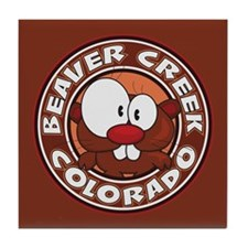Beaver Creek Circle Tile Coaster