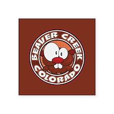 "Beaver Creek Circle Square Sticker 3"" x 3"""