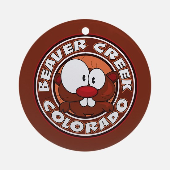 Beaver Creek Circle Ornament (Round)