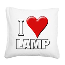 Anchorman - I Love Lamp Square Canvas Pillow
