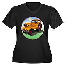 UDLX Women's Plus Size V-Neck Dark T-Shirt