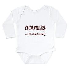 Doubles Long Sleeve Infant Bodysuit